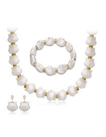 Fashion White Shell Shape Decorated Jewelry Set