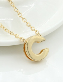 Fashion Gold Color Letter C Shape Decorated Necklace