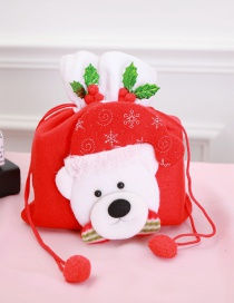 Fashion Red+white Cartoon Bear Shape Design Gift-bag