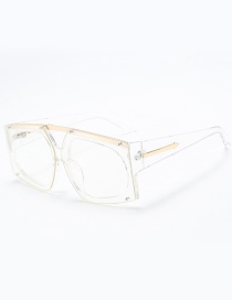 Fashion White Pure Color Design Square Shape Sunglasses