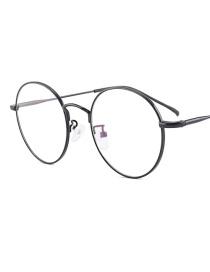 Fashion Black Round Shape Design Pure Color Sunglasses