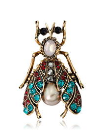 Fashion Multi-color Bee Shape Decorated Brooch