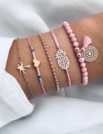 Fashion Pink Pineapple Shape Decorated Bracelets
