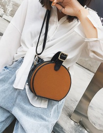 Fashion Brown Pure Color Decorated Bag