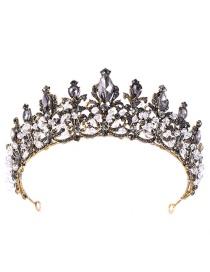 Fashion Black Full Diamond Decorated Hair Accessories