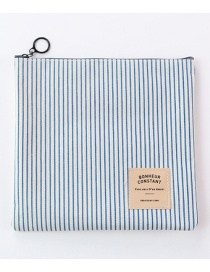 Fashion Blue Stripe Pattern Decorated Storage Bag