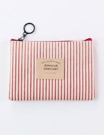 Fashion Red Stripe Pattern Decorated Storage Bag