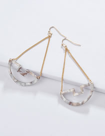Fashion Gray Geometric Shape Decorated Earrings