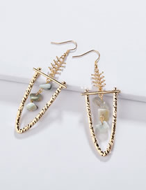 Fashion Light Green Irregular Shape Decorated Earrings