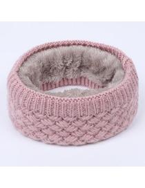 Fashion Sharp Corner Ball Dark Gray Wool Knit Woolen Collar