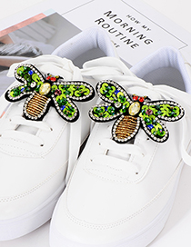 Fashion Multi-color Bee Shape Decorated Shoes Accessories