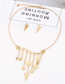 Fashion Gold Color Tassel Decorated Pure Color Jewelry Sets