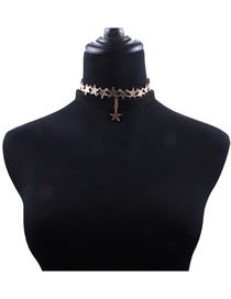 Fashion Gold Color Star Shape Decorated Choker