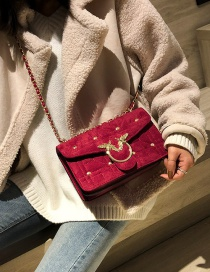 Fashion Red Bee Shape Decorated Bag
