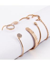 Fashion Gold Color Moon Shape Decorated Bracelet