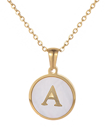Fashion Gold Color Letter A Shape Decorated Necklace