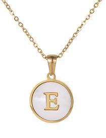 Fashion Gold Color Letter E Shape Decorated Necklace