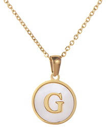 Fashion Gold Color Letter G Shape Decorated Necklace