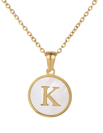 Fashion Gold Color Letter K Shape Decorated Necklace