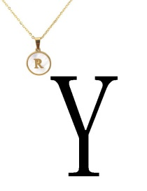 Fashion Gold Color Letter Y Shape Decorated Necklace