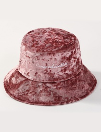 Simple Light Pink Letter Pattern Decorated Hat