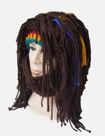 Lovely Multi-color Color Matching Decorated Weird Knitted Hat