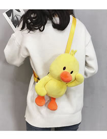Fashion Yellow Duck Shape Design Weird Shoulder Bag