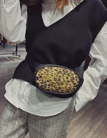 Fashion White Leopard Pattern Design Shoulder Bag