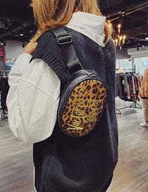 Fashion Brown Leopard Pattern Design Shoulder Bag