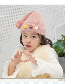 Fashion Pink Tail Shape Design Pure Color Child Hat