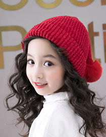 Fashion Red Pure Color Design Tails Shape Child Hat