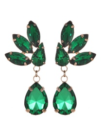 Fashion Green Waterdrop Shape Design Pure Color Earrings