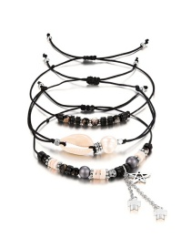 Fashion Black Star&tassel Decorated Bracelet((3pcs)