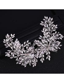 Fashion Silver Color Full Diamond Design Bridal Hair Accessories