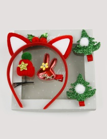 Fashion Red Rabbit Shape Decorated Hair Accessories(5pcs)