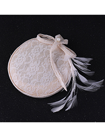 Fashion Beige Round Shape Decorated Hair Accessories