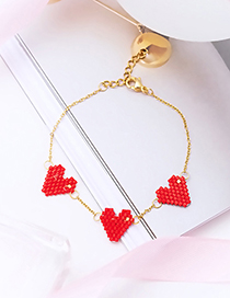 Fashion Gold Color Heart Shape Decorated Bracelet