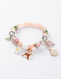 Fashion Pink Flower Shape Decorated Bracelet