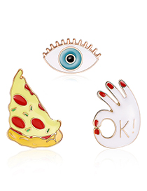 Fashion Multi-color Eye Shape Decorated Clothing&bag Buckle(3pcs)