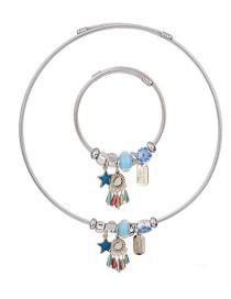 Fashion Multi-color Star Shape Decorated Jewelry Set
