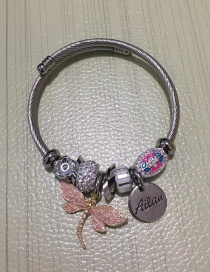 Fashion Pink Dragonfly Shape Decorated Bracelet