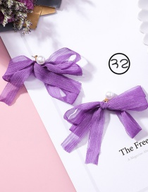 Fashion Purple Bowknot Shape Decorated Earrings