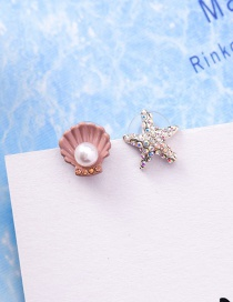Sweet Multi-color Starfish&shell Decorated Earrings