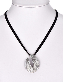 Fashion Silver Color Pure Color Decorated Necklace