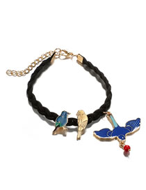 Fashion Blue Bird Shape Decorated Bracelet
