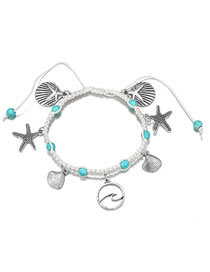 Fashion Silver Color Shell Shape Decorated Bracelet