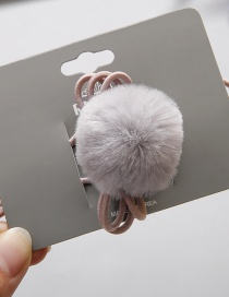 Fashion Gray Pom Ball Decorated Hair Band (1 Pc)