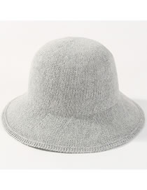 Fashion Light Gray Pure Color Design Leisure Fisherman Hat