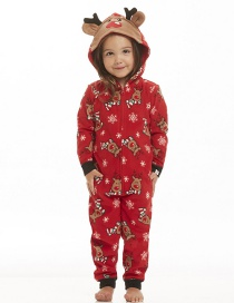 Fashion Red Elk&snowflake Decorated Household Clothes For Baby