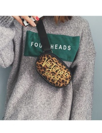 Fashion Khaki Leopard Pattern Design Round Shape Bag